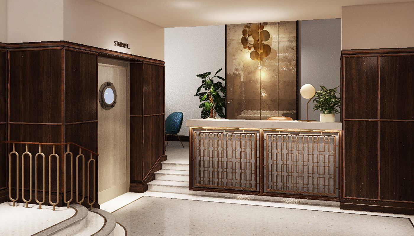 stylish reception desk